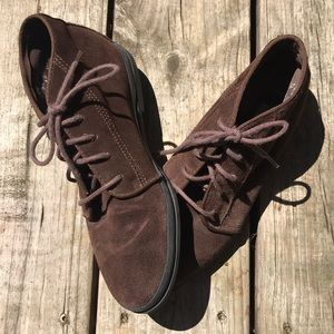 Women's Keds Brown Leather Ankle Boots, Size 6.5